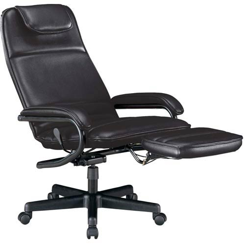 Black Vinyl Power Rest Executive Recliner