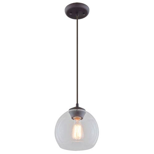 Oberon Mocha One-Light Mini Pendant