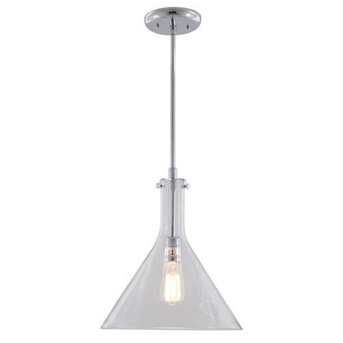 Claire Chrome 12-Inch One-Light Beaker Pendant