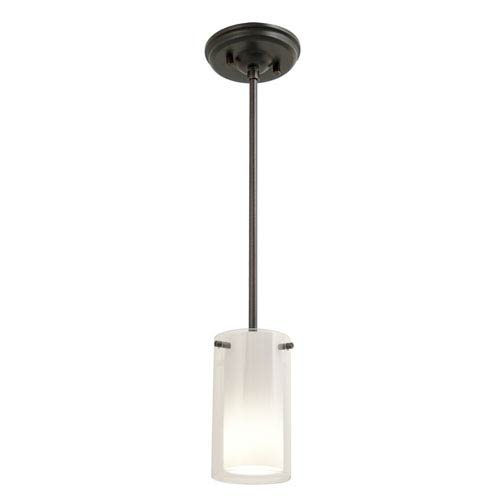Essex Oil Rubbed Bronze 5.5-Inch One-Light Mini Pendant with Opal Glass