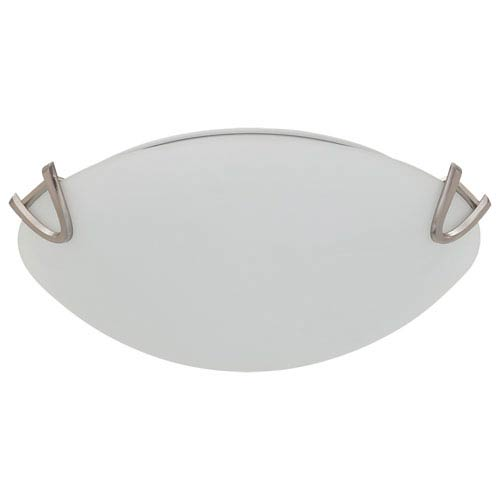 DVI Lighting Solstice Satin Nickel Three-Light Flush Mount