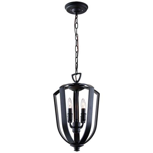 DVI Lighting Castille Ebony 10-Inch Four-Light Foyer Pendant