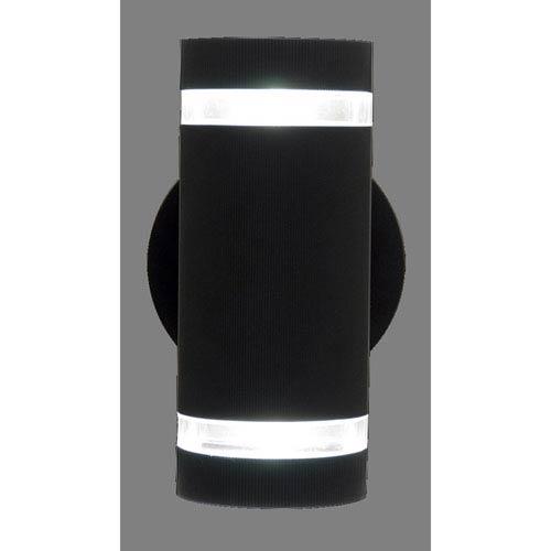 DVI Lighting Summerside Matte Black 9.5-Inch Two-Light Outdoor Sconce