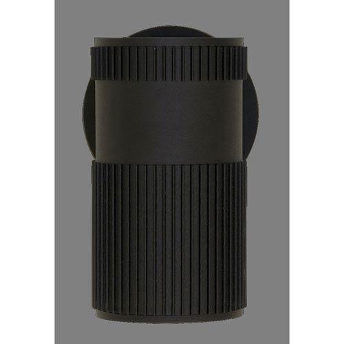 DVI Lighting Summerside Matte Black 8-Inch One-Light Outdoor Sconce