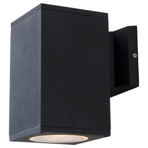 DVI Lighting Summerside Matte Black 8-Inch One-Light Cubed Outdoor Sconce
