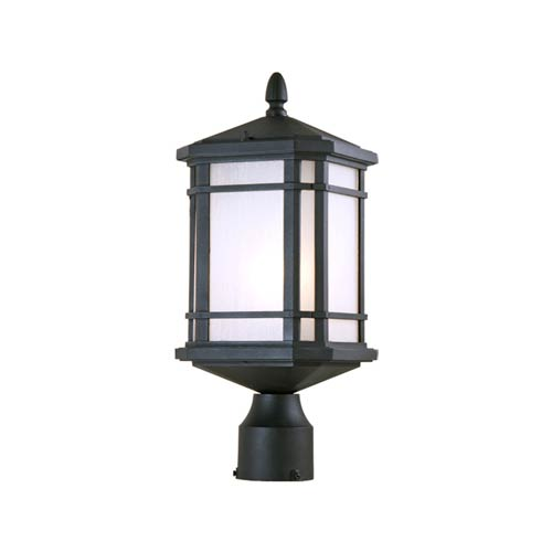Cardiff Black One-Light Outdoor Post Mount