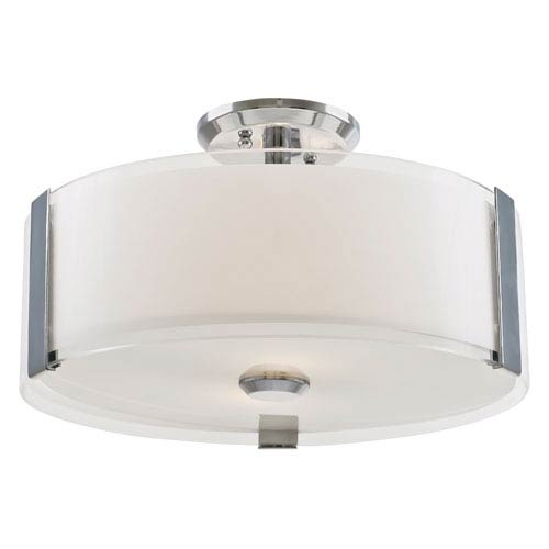 Zurich Chrome 14-Inch Three-Light Semi Flush Mount