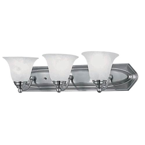 Diamond Chrome Three-Light Vanity