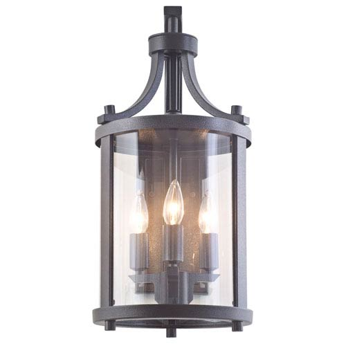 Niagara Outdoor Hammered Black Three-Light Outdoor Sconce