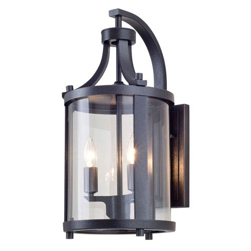 DVI Lighting Niagara Outdoor Hammered Black Two-Light Outdoor Sconce