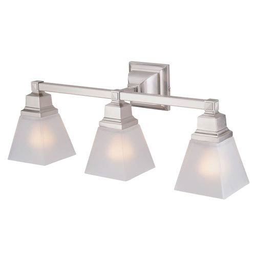 Aurora Satin Nickel Three-Light Vanity