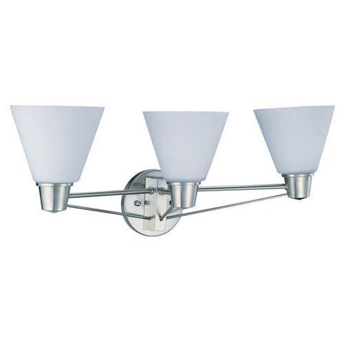 DVI Lighting Yorkville Satin Nickel Three-Light Vanity