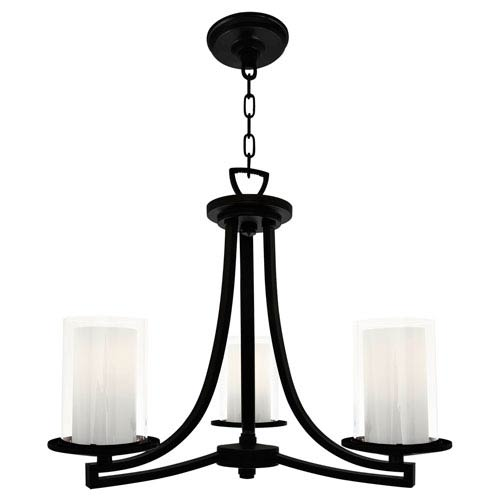 Essex Graphite Three-Light Semi Flush Mount