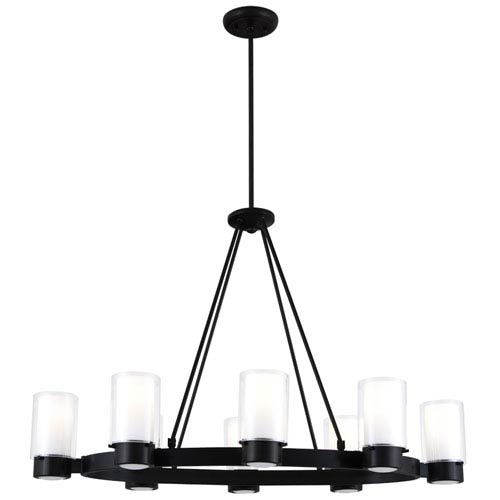 Essex Graphite Eight-Light Chandelier