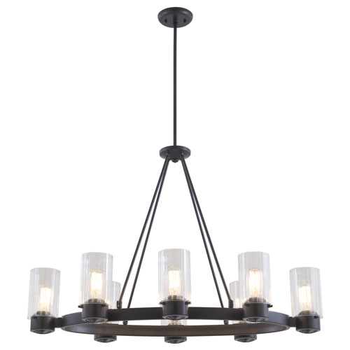 DVI Lighting Essex Special Edition Graphite Eight-Light Chandelier