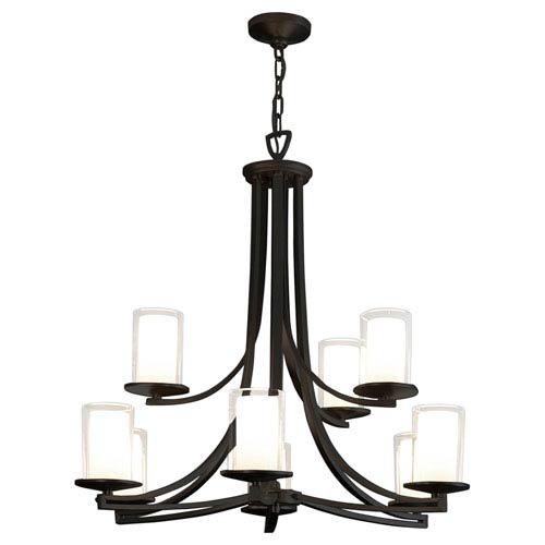 Essex Graphite Nine-Light Chandelier