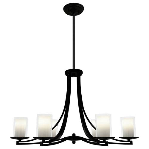 Essex Graphite 35.5-Inch Six-Light Chandelier