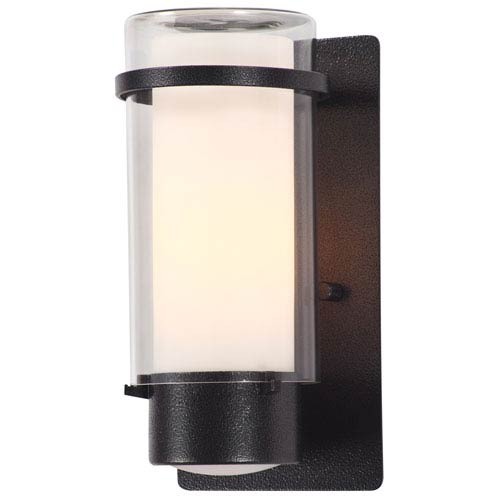 DVI Lighting Essex Hammered Black 9.5-Inch One-Light Outdoor Sconce