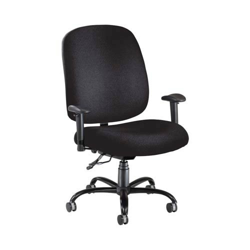 OFM Office Furniture Black Fabric Big and Tall Chair with Arms