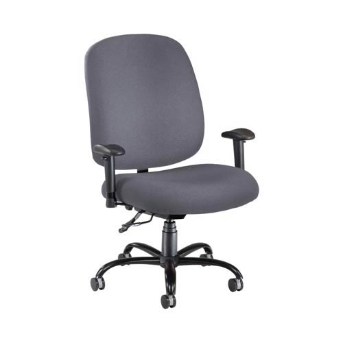 Gray Fabric Big and Tall Chair with Arms