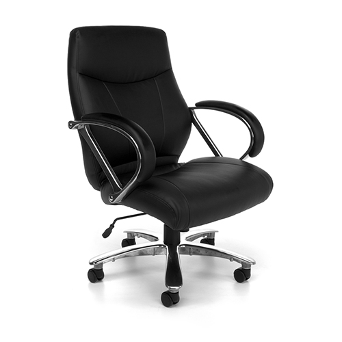 Black Avenger Big and Tall Executive Mid-Back Chair
