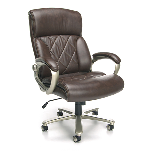 Surprising Ofm Office Furniture Brown Big And Tall Leather Executive Office Chair With Arms Interior Design Ideas Inesswwsoteloinfo