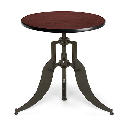 Mahogany 30-Inch Round Adjustable Height Table