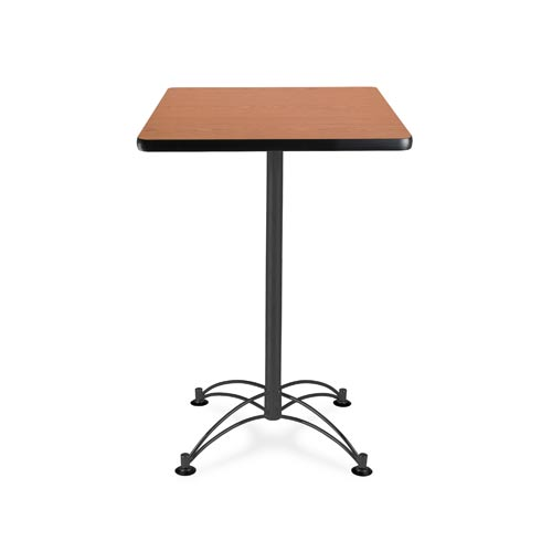 24-Inch Square Cherry Cafe Table with Black Base