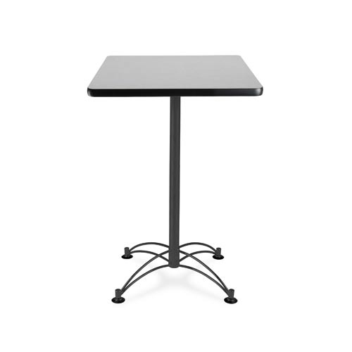 OFM Office Furniture 24-Inch Square Gray Nebula Cafe Table with Black Base