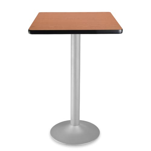 24-Inch Square Folding Cherry Cafe Table