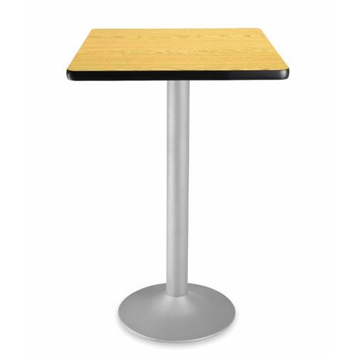 24-Inch Square Folding Oak Cafe Table