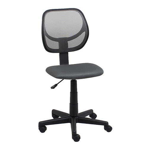 Gray Armless Mesh Swivel Task Chair