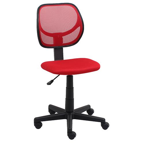 Red Armless Mesh Swivel Task Chair