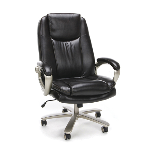 Brown Big and Tall Leather Executive Chair