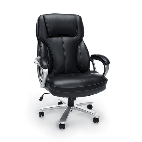 Black Big and Tall Leather Executive Chair