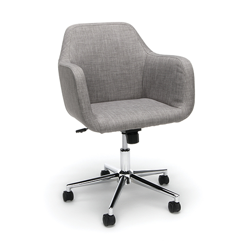 OFM Office Furniture Gray Upholstered Home Desk Chair