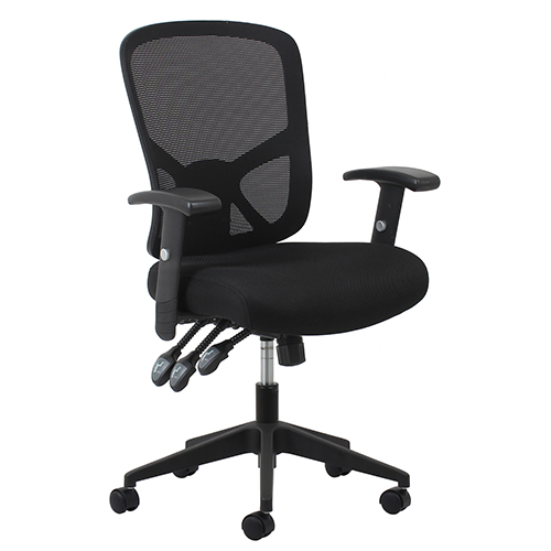 OFM Office Furniture Black 3-Paddle Ergonomic High-Back Mesh Chair with Arms