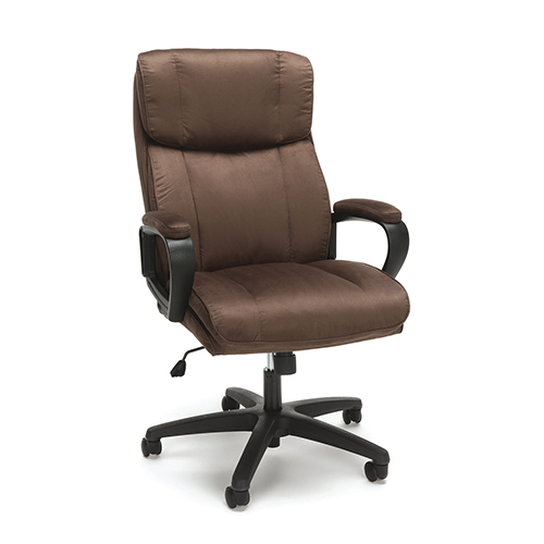 OFM Office Furniture Brown Plush High Back Microfiber Office Chair