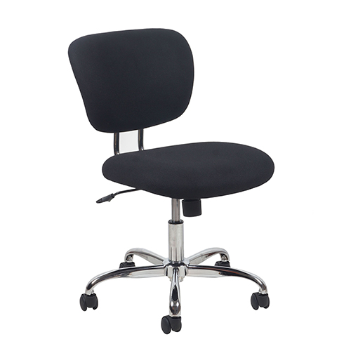 OFM Office Furniture Black Swivel Upholstered Armless Task Chair