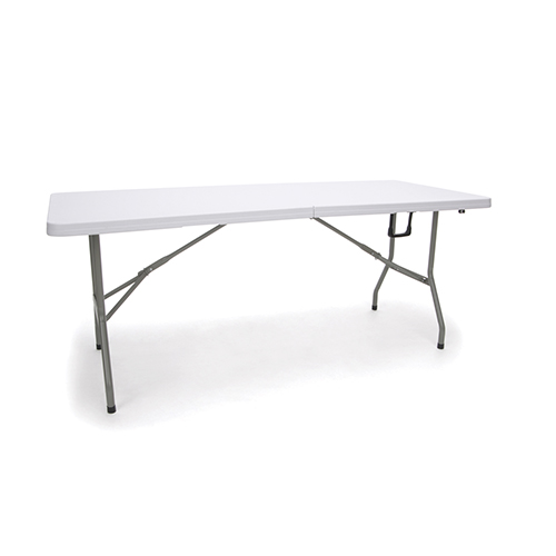 White Blow Molded Folding Table