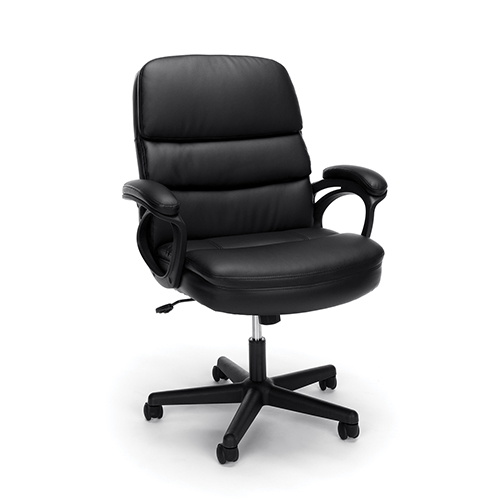 OFM Office Furniture Black Executive Manager Chair with Arms