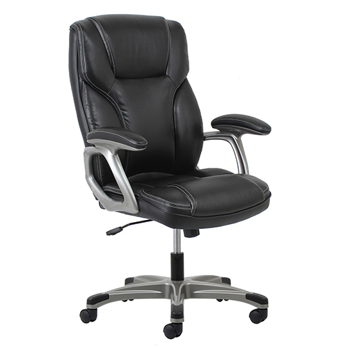 OFM Office Furniture Black High-Back Leather Chair