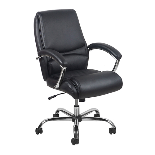 OFM Office Furniture Black Ergonomic High-Back Leather Executive Chair