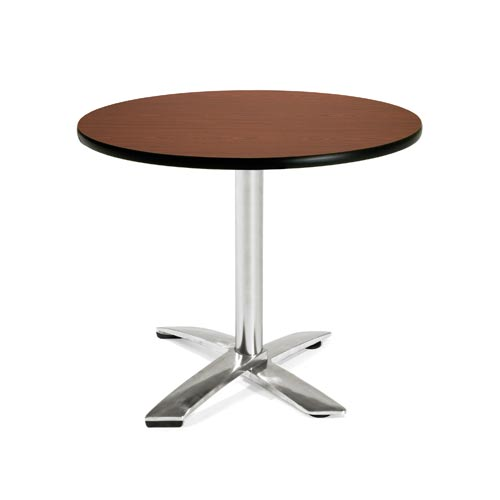 36-Inch Folding Multi-Purpose Round Mahogany Table