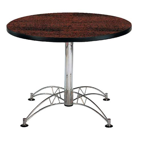 Mahogany 42-Inch Round Office Table