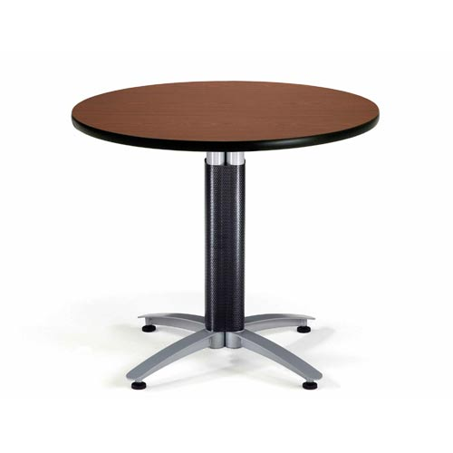 OFM Office Furniture 36-Inch Multi-Purpose Round Mahogany Table with Metal Base