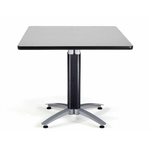 OFM Office Furniture 36-Inch Square Multi-Purpose Gray Nebula Table with Metal Base