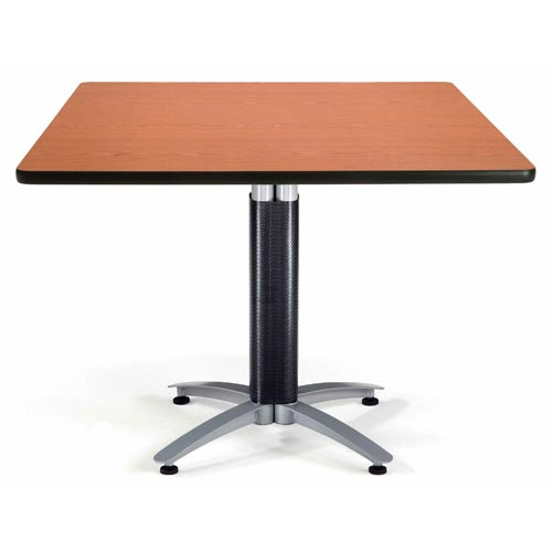 OFM Office Furniture 42-Inch Square Multi-Purpose Cherry Table with Metal Base