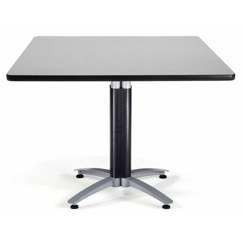 42-Inch Square Multi-Purpose Gray Nebula Table with Metal Base