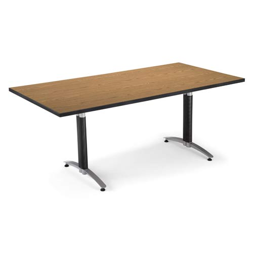 OFM Office Furniture English Oak 36 x 72 Metal Base Conference Table